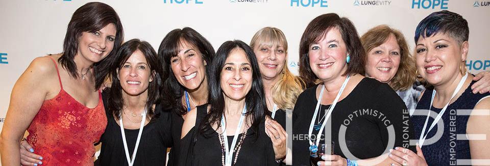 Eight women at LUNGevity's 2016 HOPE Summit