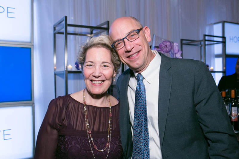 Survivor Lois Robb and Dr. Charles Rudin, MSKCC