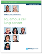 Squamous cell lung cancer brochure