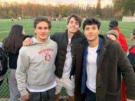 Chris with friends Matt and Eyal