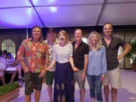 Kerry Beldin with Hoodoo Gurus