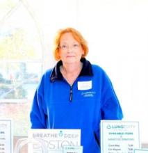 Kathy Cuddy, LUNGevity's October Hero of the Month